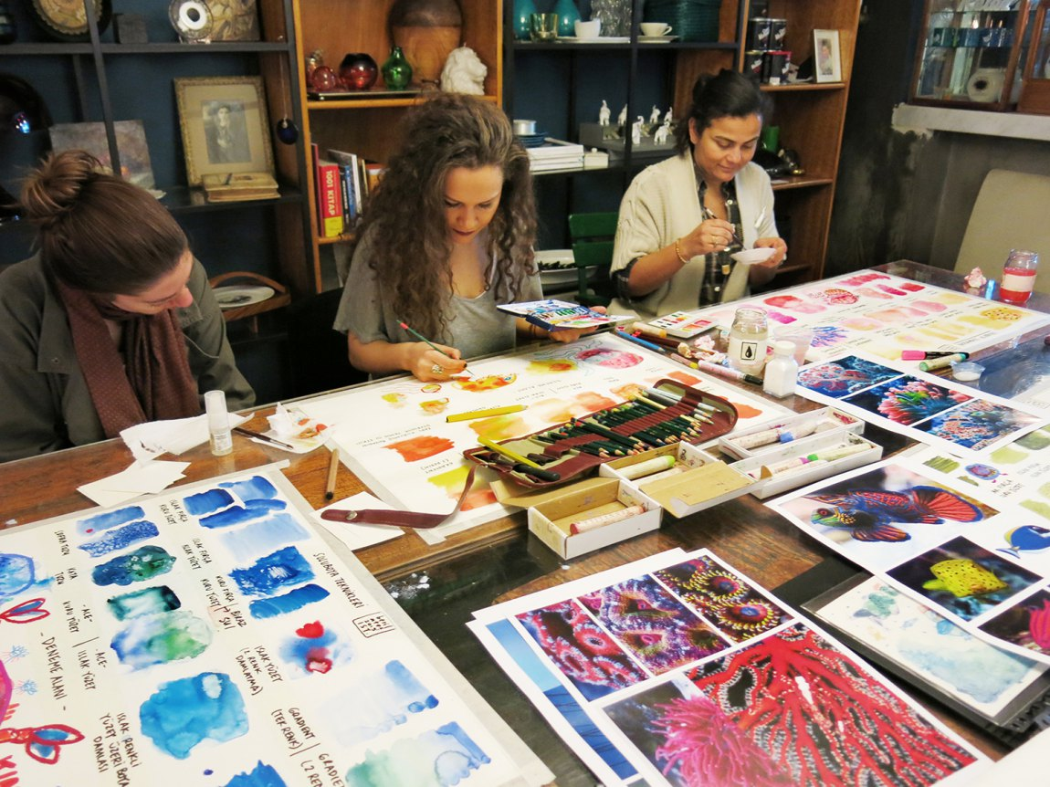 Watercolor Workshop - MaeZae 2015